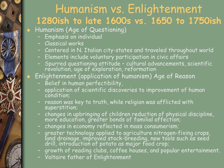 Humanism vs. Enlightenment