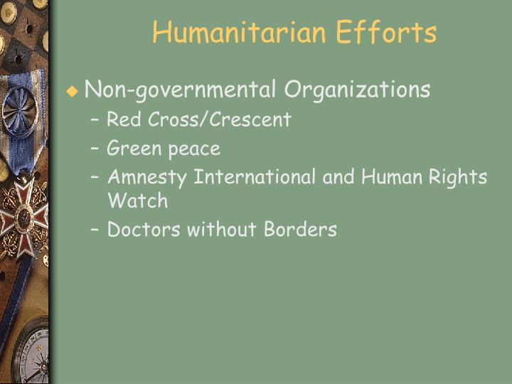 Humanitarian Efforts