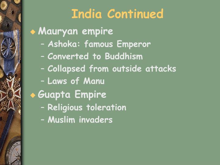 India Continued