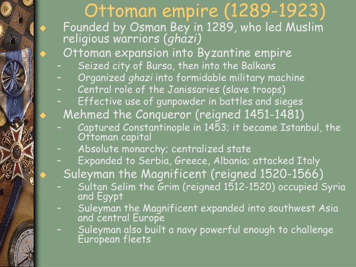 Ottoman empire (1289-1923)