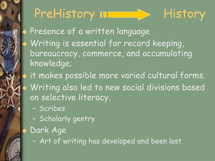 PreHistory                  History