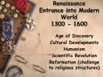 renaissance entrance into modern world 1300 1600