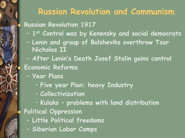 Russian Revolution and Communism