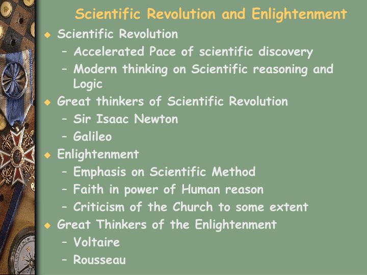Scientific Revolution and Enlightenment