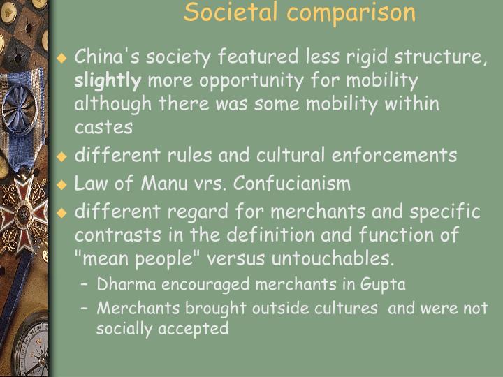 Societal comparison