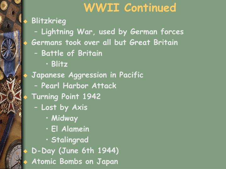 WWII Continued