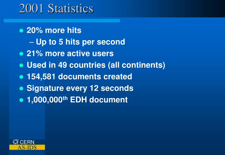 2001 Statistics