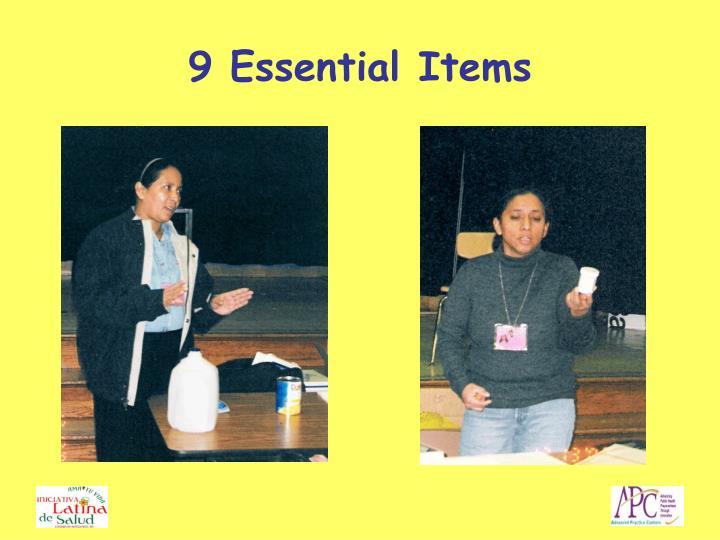9 Essential Items