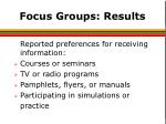 focus groups results3