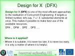 design for x dfx