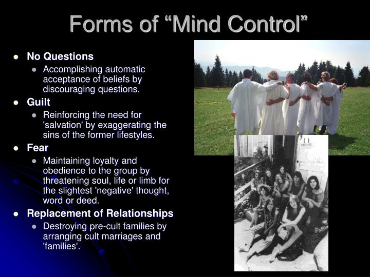 "Forms of ""Mind Control"""