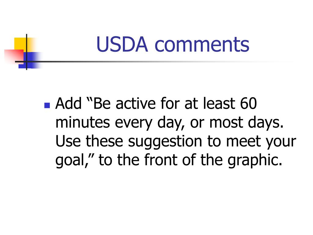 USDA comments