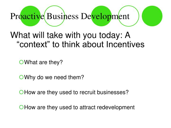 Proactive Business Development