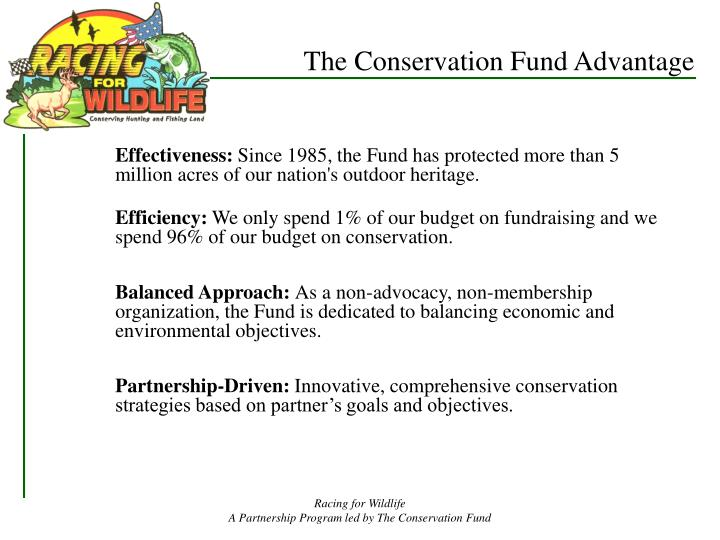 The Conservation Fund Advantage
