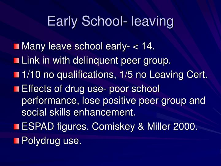 Early School- leaving