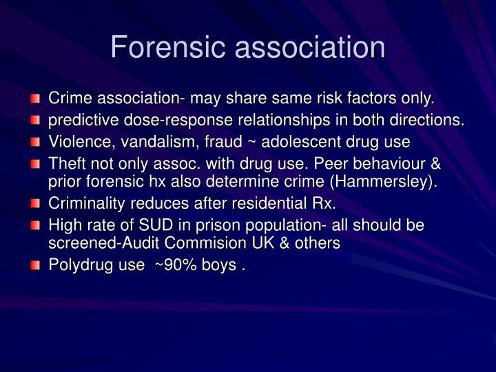 Forensic association