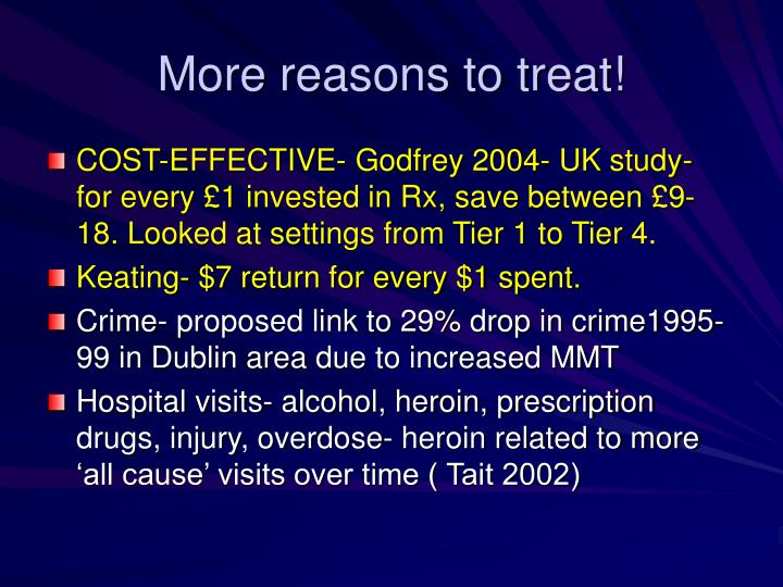 More reasons to treat!