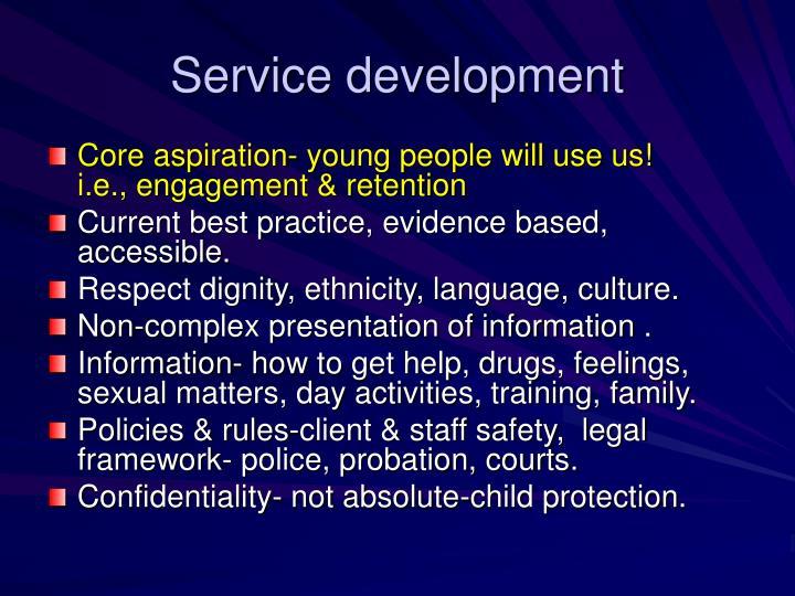 Service development