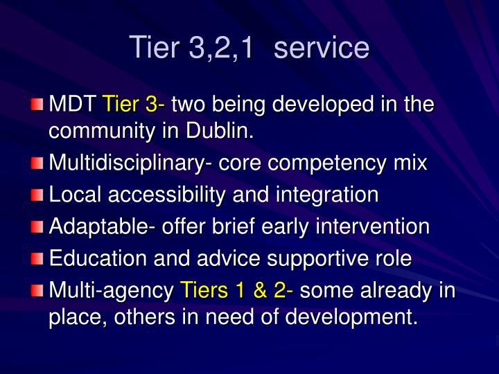 Tier 3,2,1  service