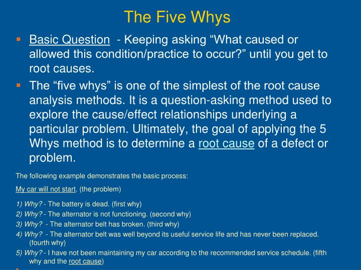 The Five Whys