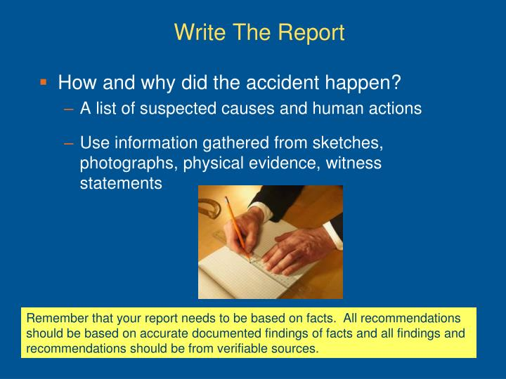 Write The Report