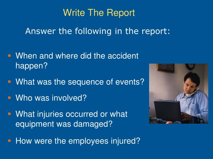 Answer the following in the report: