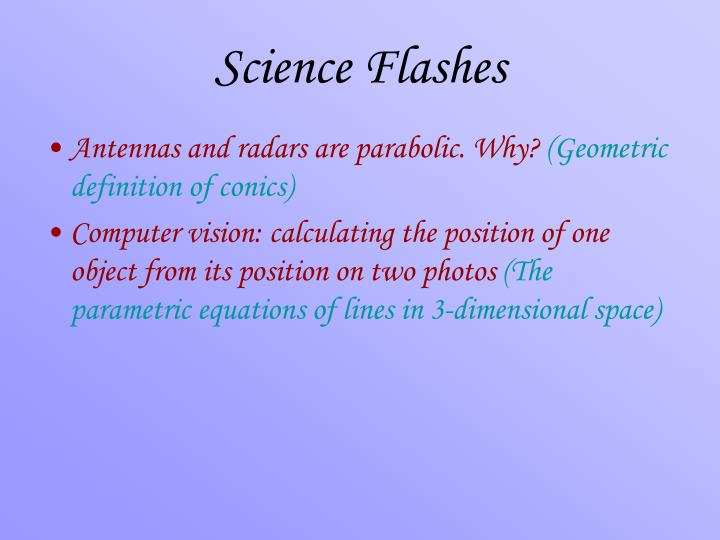 Science Flashes