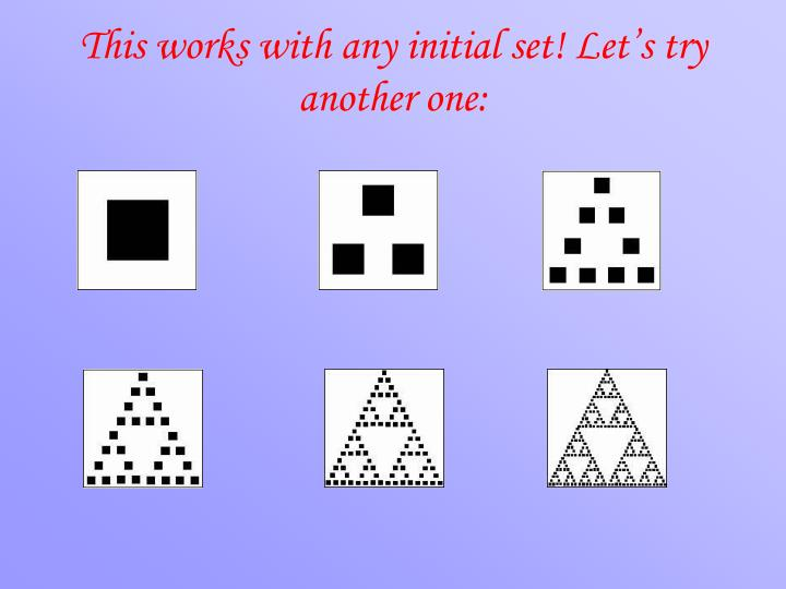 This works with any initial set! Let's try another one: