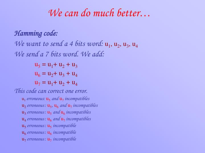 We can do much better…