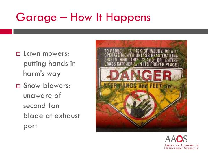 Lawn mowers: putting hands in harm's way