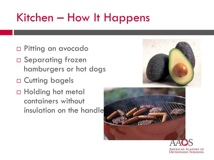 Pitting an avocado