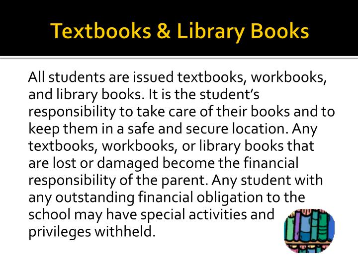 Textbooks & Library Books