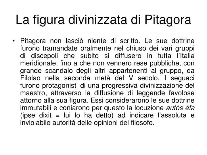 La figura divinizzata di Pitagora