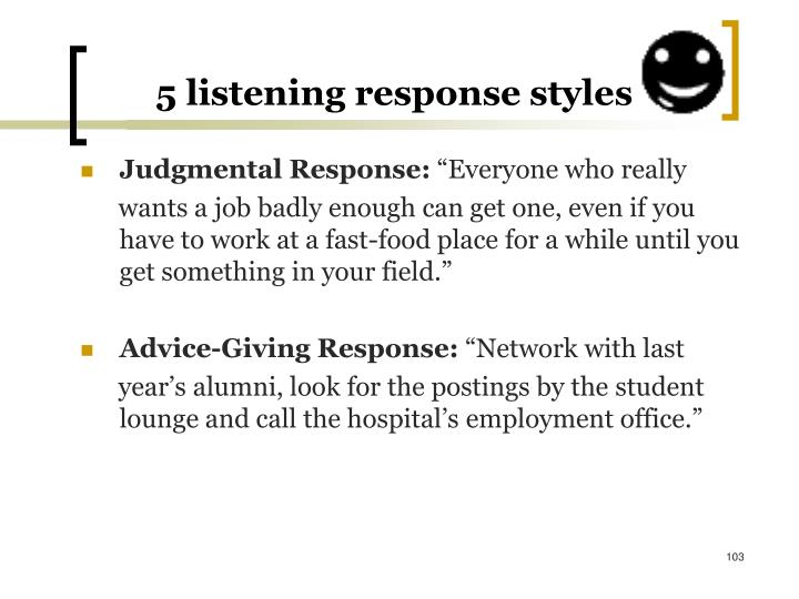 5 listening response styles