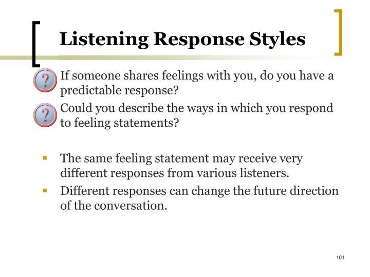 Listening Response Styles
