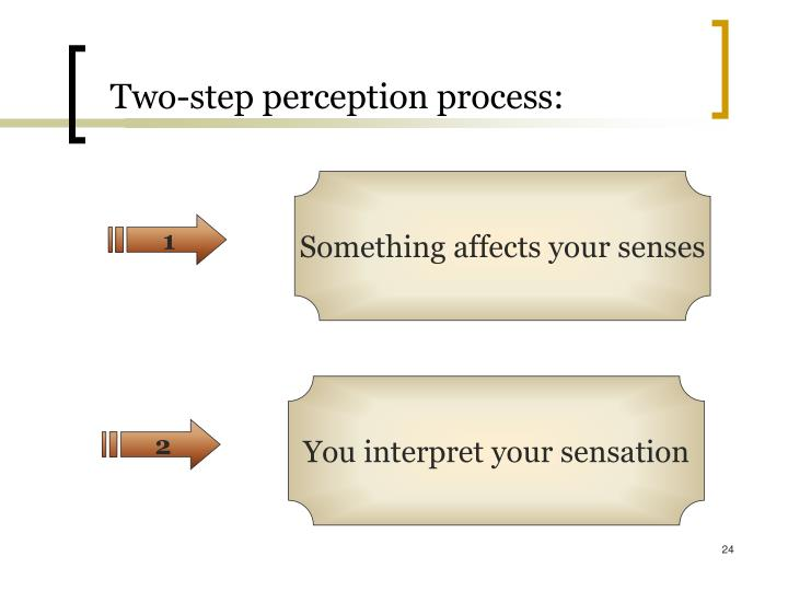 Two-step perception process: