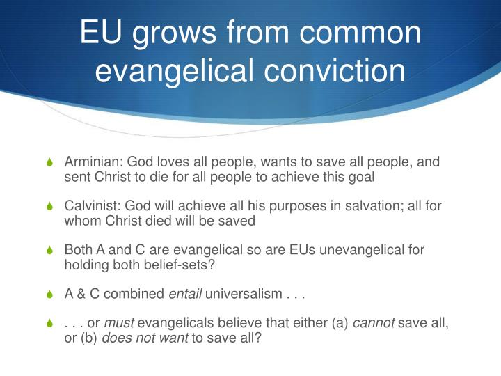 EU grows from common evangelical conviction