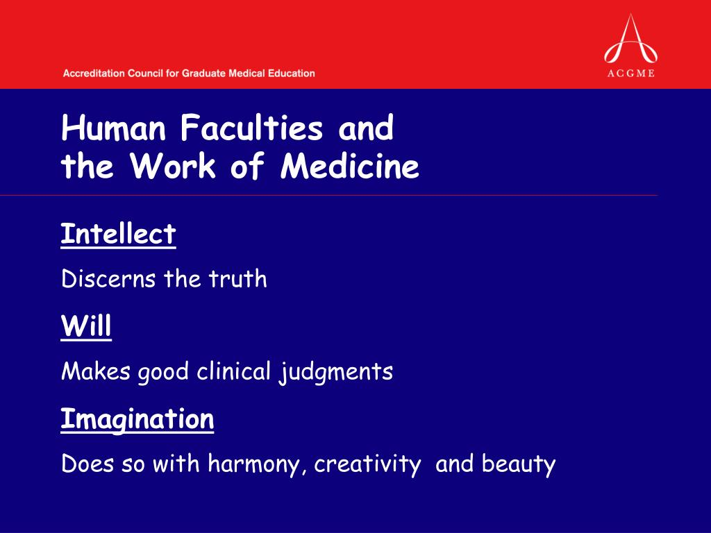 Human Faculties and
