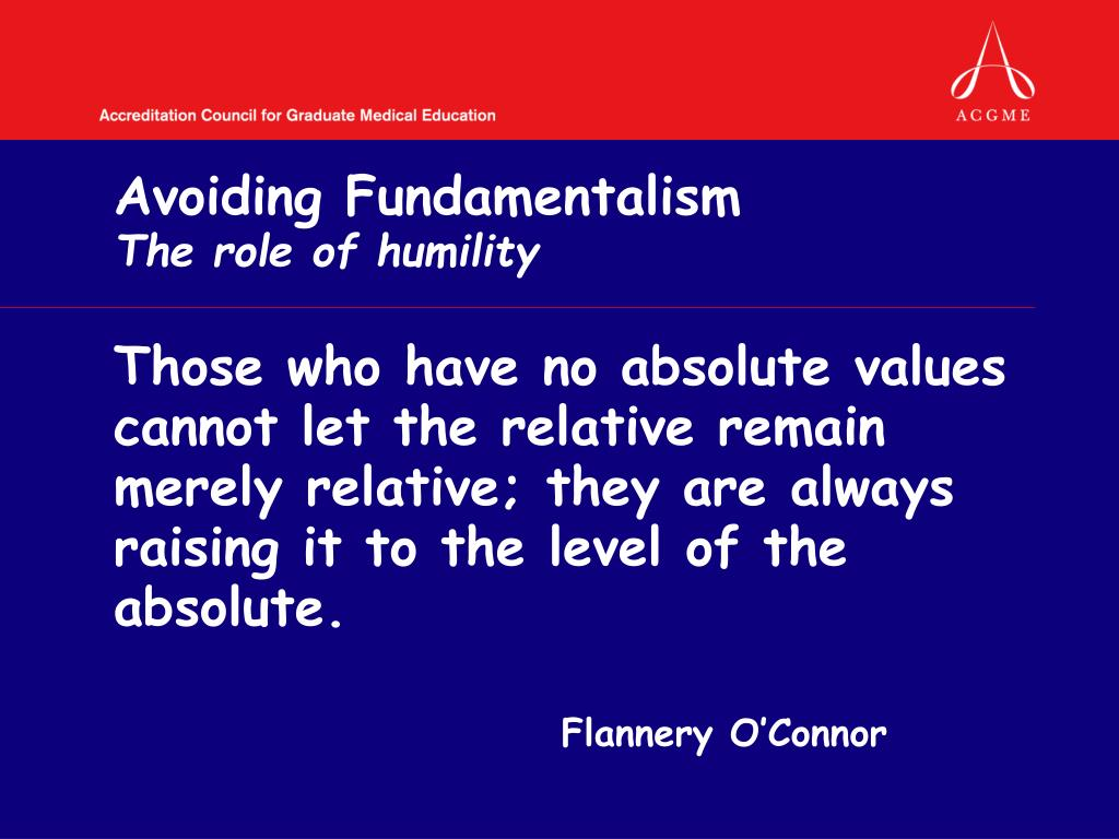 Avoiding Fundamentalism
