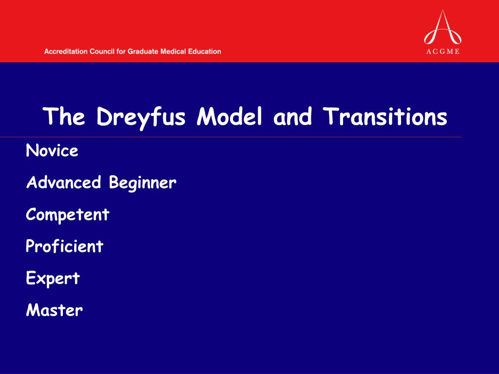 The Dreyfus Model and Transitions
