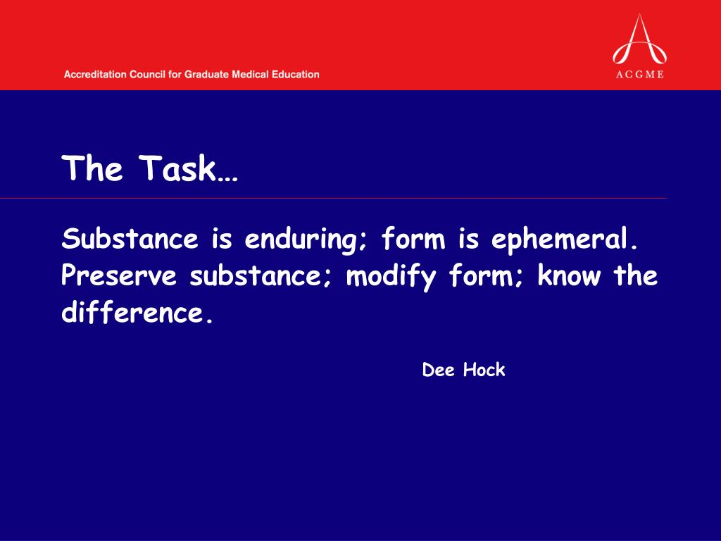 The Task…