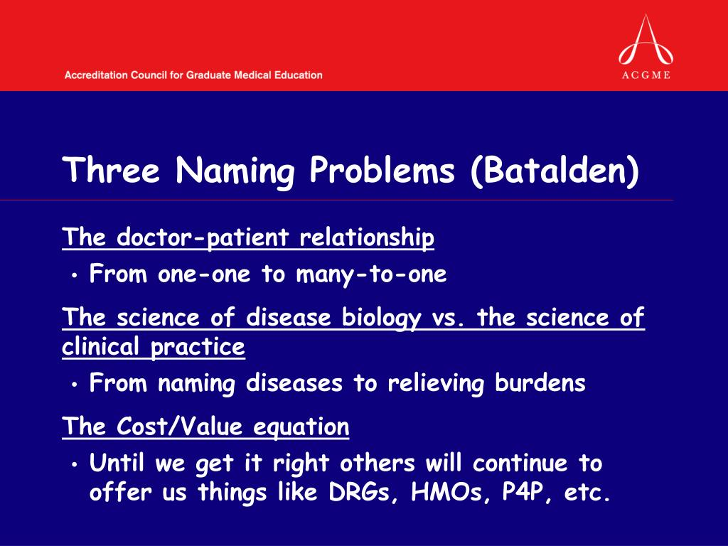 Three Naming Problems (Batalden)