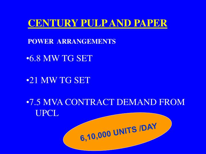 CENTURY PULP AND PAPER