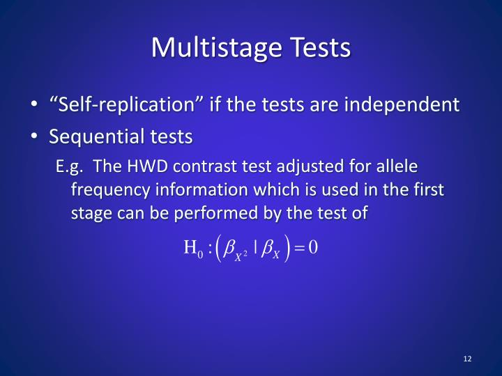 Multistage Tests
