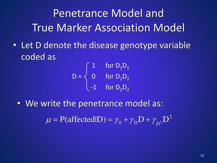 Penetrance Model and