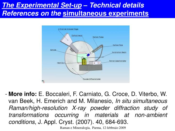 The Experimental Set-up