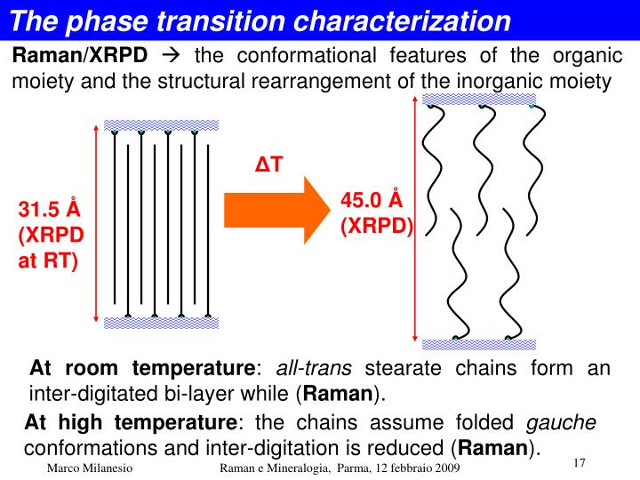 The phase transition characterization