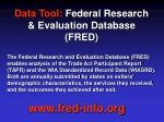 data tool federal research evaluation database fred