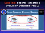 data tool federal research evaluation database fred1