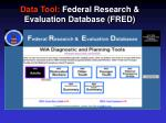 data tool federal research evaluation database fred3